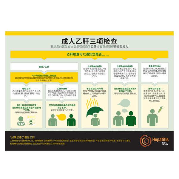 Hep B testing chart in Mandarin