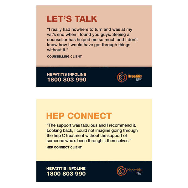 Let's Talk & Hep Connect cards