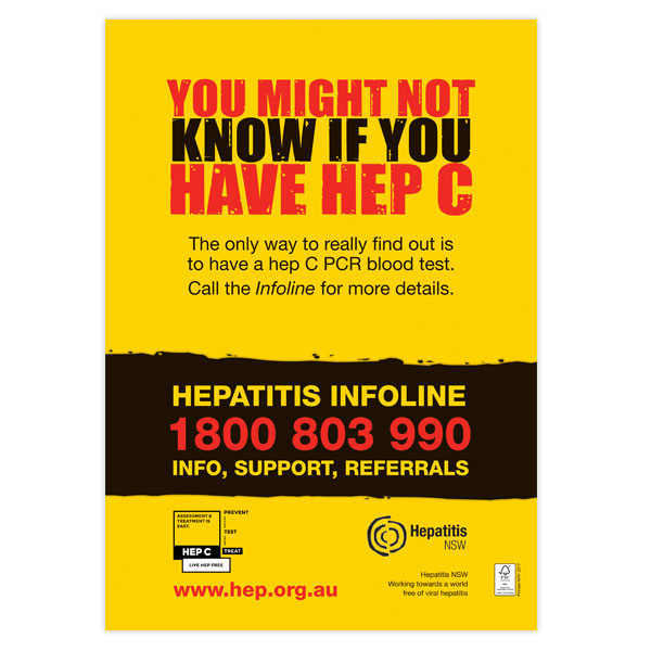 You might not know if you have hep C poster