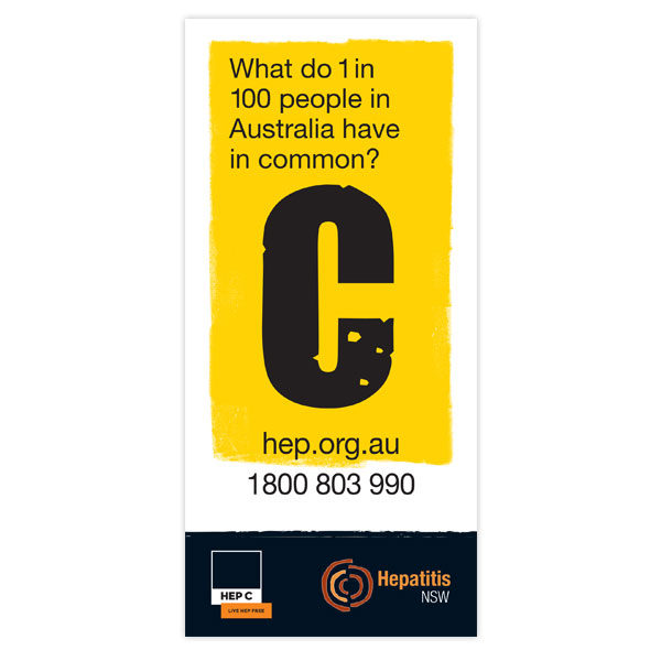 Hep C awareness flyer cover