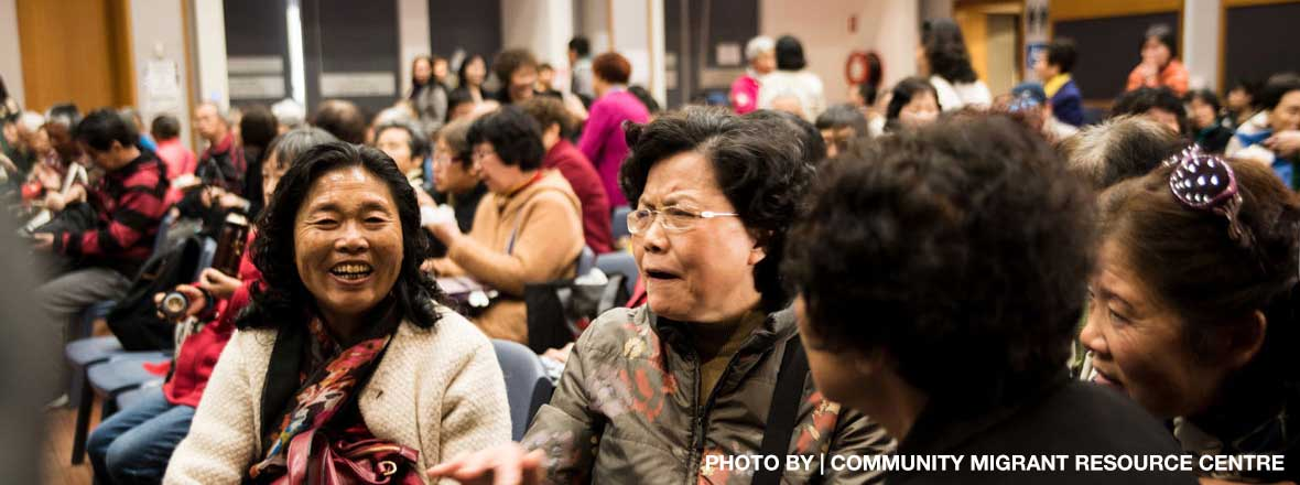 image of Asian-looking women at crowded event
