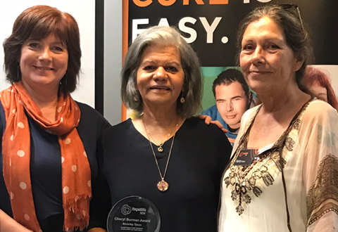 Bev Tyson wins Cheryl Burman Award